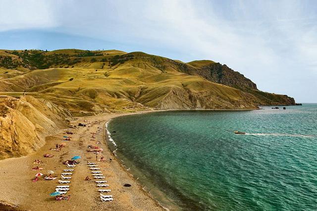 Пляж мыса Меганом, Крым