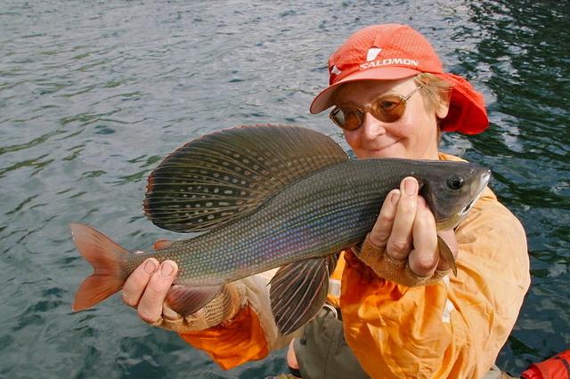 рыбалка озеро хариус